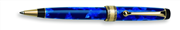 AURORA OPTIMA Auroloide Blue/Gold Damarlı Sedef Tükenmez Kalem