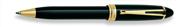 AURORA IPSILON De Luxe Doğal Reçine/Altın Tükenmez Kalem - Siyah