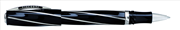 VISCONTI DIVINA MEDIUM SIZE Black Lucite Silver 925 Roller kalem<br><img src= resim/mypenli.gif  border= 0 />