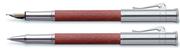 Graf von Faber-Castell Classic Bakkam Ağacı/Platin Dolma Kalem + Roller Kalem Set