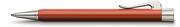 Graf von Faber-Castell Intuition Terra Tek Parça Reçine/Platin El Yapımı Tükenmez Kalem
