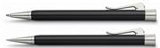 Graf von Faber-Castell Intuition Tek Parça Reçine/Platin Tükenmezkalem + Mekanik Kurşun kalem Set