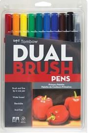 TOMBOW BRUSH PEN DUAL AB-T SET PRİMARY 10CPR
