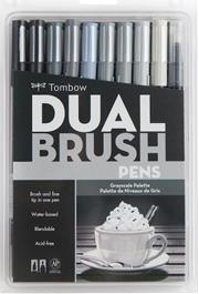 TOMBOW BRUSH PEN DUAL AB-T SET GRAYSCALE 10CGR