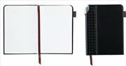 Cross Signature Journals Suni Deri Kaplı Orta Boy (A5) Özel Defter (Kalem Hediye) - Siyah