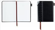 Cross Signature Journals Suni Deri Kaplı Ufak Boy (A6) Özel Defter (Kalem Hediye) - Siyah