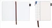 Cross Signature Journals Suni Deri Kaplı Ufak Boy (A6) Özel Defter (Kalem Hediye) - Beyaz