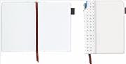 Cross Journals Suni Deri Kaplı Orta Boy (A5) Özel Defter - (Kalem Hediye) - Beyaz