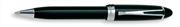 AURORA IPSILON De Luxe Doğal Reçine/Krom Tükenmez kalem - Siyah