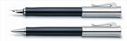 Graf von Faber-Castell Intuition Platin Tek Parça Reçine/Platin El Yapımı Dolmakalem + Rollerkalem Set