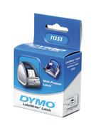 DYMO LabelWriter Serisi Çok Amaçlı Etiket (2 yüzlü) 25x13mm - 1x6 Rulo Beyaz