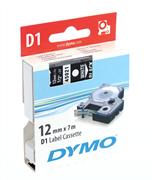 DYMO LabelManager serisi D1 yedek şerit - 12mm x 7mt - 1 adet Siyah/Beyaz