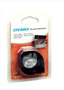 DYMO LetraTag serisi 12mm x 4mt - 1x10paket Metalik Gri
