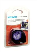 DYMO LetraTag Serisi Şerit 12 mm x 4mt - 1x10 paket Plastik Şeffaf