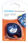 DYMO LetraTag serisi Plastik şerit - 12mm x 4mt - 1x10 paket Plastik Beyaz