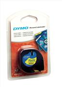 DYMO LetraTag serisi Plastik Şerit - 12mm x 4mt - 1x10paket Plastik Sarı