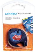 DYMO LetraTag serisi Plastik Şerit - 12mm x 4mt - Plastik Kırmızı