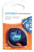 DYMO LetraTag serisi Plastik Şerit - 12mm x 4mt - Plastik Yeşil  1x10adet