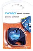 DYMO LetraTag serisi Plastik Şerit - 12mm x 4mt. - Plastik Mavi