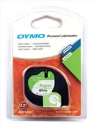 DYMO LetraTag serisi Kağıt Şerit - 12mm x 4mt - 1x10paket Kağıt Beyaz