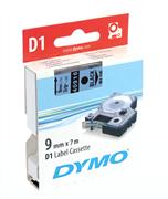 DYMO LabelManager serisi D1 yedek şerit - 9mm x 7mt - 1x5 adet Mavi/Siyah