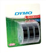DYMO 3D Mekanik Makine için Plastik Kabartma 9mmx3mt Şerit 3x5adet - 2 Farklı Renk Seçeneği