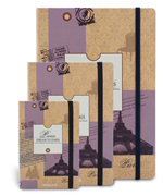 Scrikss noteLook Dream To PARIS Sarı/Pembe Temalı Çizgili Not Defteri - A6 (10.5x14.8cm)
