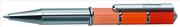 ONLINE Piccolo Tri-Color Parlak Krom/Parlak 3 Ton Turuncu İnce-Mini Tükenmez kalem