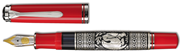 Pelikan Toledo M710-Kırmızı Som Gümüş El İşlemeli Orta Boy Dolma kalem - 3 Farklı Uç Seçeneği