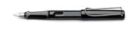 Lamy Safari Parlak Siyah/Krom Dolma kalem - 4 Farklı Uç Seçeneği