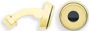 Cross Conical 23k Altın Kaplama/Mini Kol Düğmesi