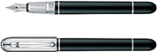 Dunhill Sidecar Chassis Siyah Doğal Reçine/Platinyum Dolma Kalem