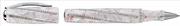 """VISCONTI DIVINA ROYALE ROSE """"Peau d Ange"""" Beyaz Altın Spiral-275 İtalyan Kristal Roller Kalem<br><img src= resim/mypenli.gif  border= 0 />"""