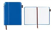 Cross Journals Suni Deri Kaplı Orta Boy (A5) Özel Defter (Kalem Hediye) - Mavi