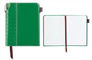 Cross Journals Suni Deri Kaplı Küçük Boy (A6) Özel Defter - (Kalem Hediye) - Yeşil