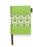 Cross Mod Journals Small(A6) Çizgili Defter Yeşil-Beyaz Kumaş/Deri (Kalem Hediye)