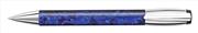 DELTA Mask Damarlı Mavi Reçine/Parlak Krom Tükenmez kalem