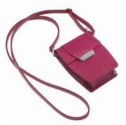 ONLINE Leather Crystallized® -Swarovski Tasarım Deri Askılı Küçük Çanta - Bright Fuchsia