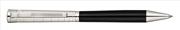 Waldmann Xetra Siyah Lake Gövde X-style işlemeli 925 Som Gümüş Tükenmez Kalem