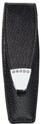 ONLINE Leather Crystallized® -Swarovski Tasarım Kısa Tekli Kalem Kılıfı (12x3.5cm) - Siyah