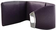 ONLINE Leather Crystallized® -Swarovski Tasarım Deri Kredi Kartlık(11x7cm) - Fantastic Plum