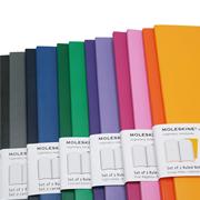 MOLESKINE VOLANT SET 2 RULED NOTEBOOK 9x14cm - 4 Farklı Renk Seçeneği