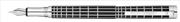 Waldmann Germany Xetra 925 Som Gümüş Siyah Lake Eşsiz X-style işlemeli Dolma Kalem