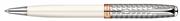 PARKER SONNET RD Metal İnci Beyaz Tükenmez Kalem