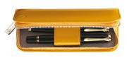 Pelikan Kum Sarısı Rugan Deri 2 li Kalem Kılıfı