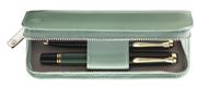 Pelikan Pastel Yeşili Rugan Deri 2 li Kalem Kılıfı