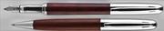 Oberthur Séquoia Gül Ağacı/Çelik Dolmakalem + Tükenmezkalem Set