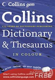 COLLINS / ENGLİSH DİCTİONARY THESAURUS CEP KK
