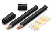 Moleskine Highlighter Çift Fosforlu Kurşun Kalem + Kalemtraş Set