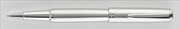 Oberthur Opus Mat Saten Lake Gümüş/Krom Roller Kalem / Tekli Deri Kılıf Hediyeli